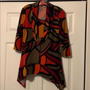 COCO BIANCO Abstract high low sweater M